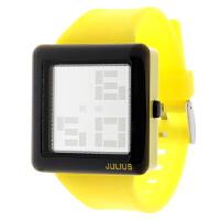 2018年新款 Julius/聚利时 个性韩版 镜面反射 防水电子表 JAE-003 黄色