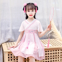 2019夏季新款儿童古装裙小女孩童装裙子汉服女童夏装连衣裙
