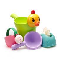 �和�洗澡玩具�蛩��男孩女孩小�S��洗�^杯�������⑺��靥籽b沙�� ��z洗澡4件套 送袋子