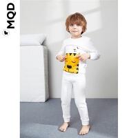 MQD童装男童内衣套装秋冬款宝宝夹棉加厚家居服小童两件套儿童潮