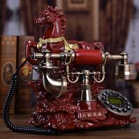 2019新品新品创意电话机欧式仿古复古典电话老式家用办公固定座式机摆件