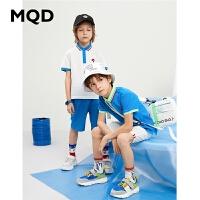 【179元3件】MQD男童短袖T恤2020夏新款中大童儿童POLO衫短袖翻领