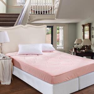 [当当自营]富安娜床垫床笠款印花保护垫 香妃绒保护床垫 粉色 120*200