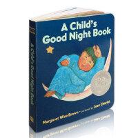 A Child's Good Night Book小朋友说晚安 纸板书 儿童英文原版绘本 凯迪克奖获奖作品 夜幕降临 小兔子、小鸟和小朋友们都去睡觉了 Margaret Wise Brown