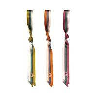 旅途系列kiwi彩虹公路印花真丝缎面窄领带巾