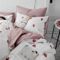 网红同款公主风纯棉四件套全棉床上用品春秋款床单被套三件套 2.0m 床单款(被套220*240cm)四件