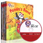 英文原版 collins Big Cat Red A Band2A 带CD 大猫自然拼读法2 红色套装全14册4-6岁