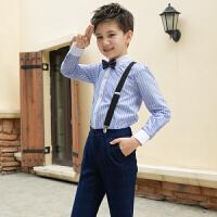 男童花童表演幼儿园钢琴礼服主持人大合唱背带裤儿童演出服装套装