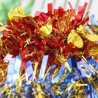 圣诞派对用品彩条毛条拉花生日装饰节庆六一节日彩带装饰圣婚礼 紫色 普通40条