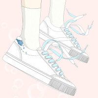 艾米与麦麦2019春季新款韩版小清新文艺范休闲鞋女学生百搭皮面小白鞋甜美少女闺蜜鞋子校园低帮软妹板鞋