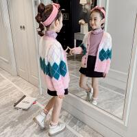 2019新款洋气针织衫童装秋装毛衣外套女童开衫外套针织衫