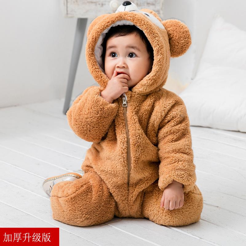 儿童卡通连体衣睡衣冬可爱动物装宝宝服装家居服冬装冬季婴儿衣服   批量拍下不发货