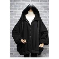 秋冬大码女装胖妹妹学生外套女宽松卫衣开衫中长款加绒加肥200斤 黑色