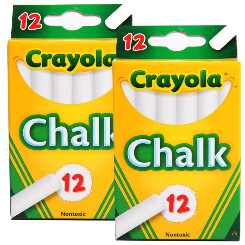 当当自营Crayola 绘儿乐 白色粉笔12支装 两组装 51-0320