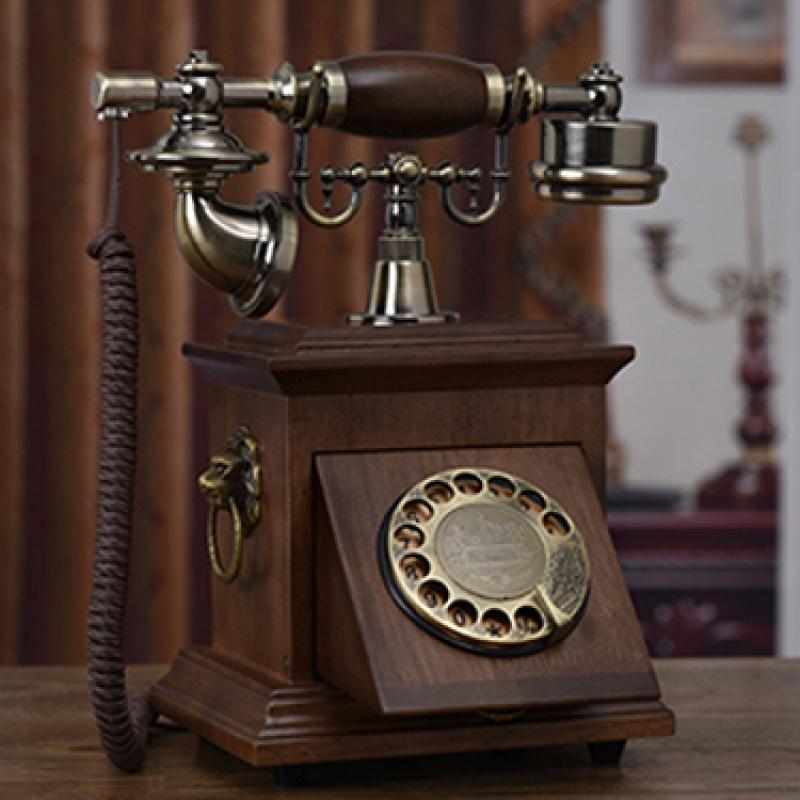 【品牌热卖】欧式复古老式电话机旋转拨号电话机仿古美式古董无线家用座机