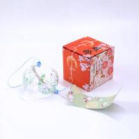 日本日式玻璃樱花风铃铃铛创意卧室挂件冥想夏日和风挂饰门饰女生 玉兔 小号
