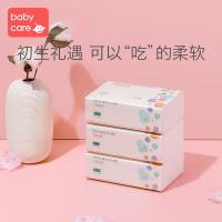 babycare婴儿云柔巾新生儿超柔纸巾宝宝保湿纸巾抽纸108抽*3包
