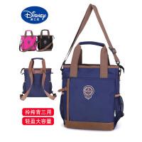 迪士尼儿童包包斜挎包小学生男女童手提单肩双肩美术袋补习书袋潮