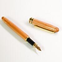 复古文艺竹木钢笔 金属练字明尖书写笔 教师学生礼品个性激光定制 木头钢笔 0.7mm
