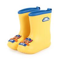 汪汪��和�雨鞋男童雨靴小童�p便防滑����水鞋�r尚�z鞋女水靴雨具