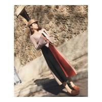 秋冬季新款小香风时髦显瘦套装裙子小个子长袖毛衣针织两件套