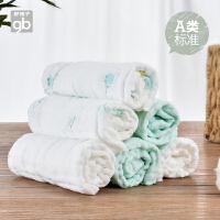 儿童手绢洗脸方巾宝宝口水巾6条装婴儿手帕棉纱布面巾