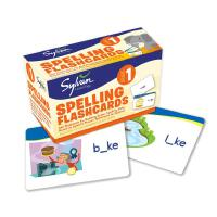 进口原版First Grade Spelling Flashcards卡片盒装 Sylvan learning 儿童启