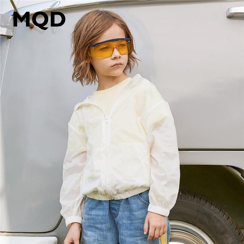 【2件3折:138】MQD童装男童连帽外套2020春夏新款满版印花轻薄上衣儿童防晒服潮