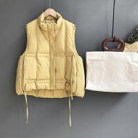 羽绒棉马甲女短款秋冬季2018新款韩版学生立领无袖面包服背心外套