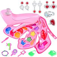 小伶女童儿童小女孩口红指甲油公主彩妆盒演出化妆品套装玩具
