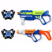 银辉镭射对战枪套装双人射击远程追踪激光枪儿童男孩玩具防水晶弹 官方标配