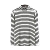 高领打底衫女长袖T恤2018秋冬新款加绒加厚潮堆堆领修身内搭上衣