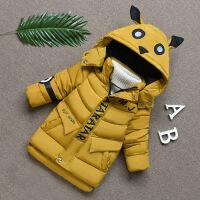 男孩棉袄 男童中长款 宝宝外套 儿童装冬天装新款