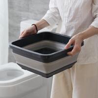 易旅可折叠脸盆塑料家用大号水盆便携式旅行洗衣服盆子折叠洗脸盆