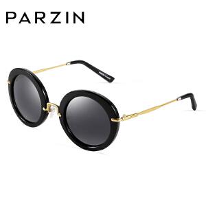 帕森偏光太阳镜 潮人新款复古墨镜 男女时尚圆框太阳眼镜 9269