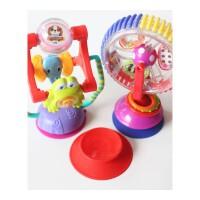 儿童摇铃 摇铃旋转摩天轮宝宝风车婴儿童餐桌椅推车吸盘玩具喂饭哄娃