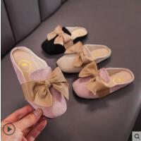 户外女中大童时尚蝴蝶结室外穿时装拖鞋 儿童拖鞋防滑软底夏季包头凉拖
