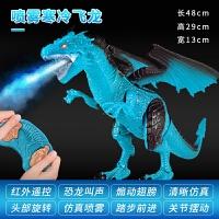遥控恐龙电动喷雾恐龙玩具 男孩儿童喷火龙翼龙仿真动物寒冰飞龙3-6岁生日礼物 送充电器+6节电池