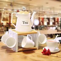 【好店】【好店】茶具创意套装 时尚 现代欧式陶瓷家用茶具套装整套简约中式现代 整套茶具【011】 14件