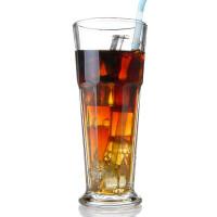 加厚耐热玻璃果汁杯 创意啤酒杯可乐杯子 西餐厅饮料杯奶茶杯
