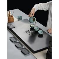 天然整块乌金石茶盘套装大号家用简约茶台茶海排水功夫茶具 (套装版)