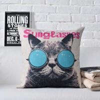 猫咪汽车抱枕被子两用多功能沙发ins靠垫枕被子两用空调被午休毯 40X40/110X150CM