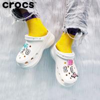 Crocs卡骆驰2020新款女凉拖鞋厚底老爹鞋女洞洞鞋 206302 复古克骆格BAE