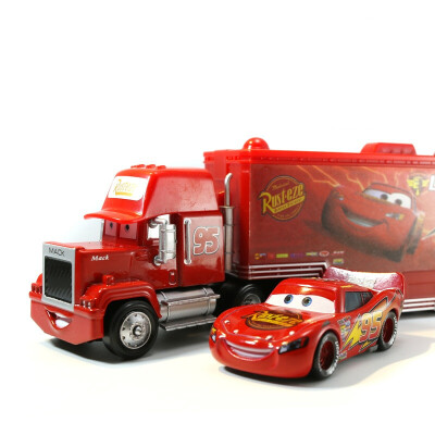 赛车汽车总动员3闪电麦昆玩具车模型套装麦大叔黑风暴货柜合金车
