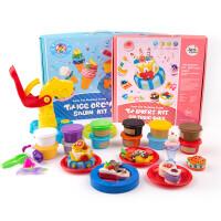 美�� �和�橡皮泥彩泥套�b冰淇淋�C模具工具套�b粘土�^家家玩具