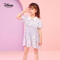 【2件2.3折价:82.5元】迪士尼女童新款波点连衣裙2021夏季新款女童连衣裙时尚宝宝公主裙