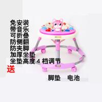 婴儿学步车防侧翻多功能可折叠宝宝学步车儿童助步车