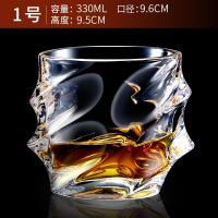 【好�】威士忌洋酒杯透明玻璃啤酒杯�o�U水晶��意水杯��性四方茶杯��形XO烈酒杯�u尾酒杯子 1� 威士忌酒杯