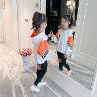 2019新款中大儿童女孩卫衣洋气时髦两件套女童秋装套装