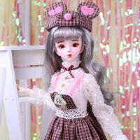 【2件5折】芭比娃娃 新年礼物 精品 德必胜娃娃 十二生肖系列60cm改装娃娃仿真玩具公主bjd换装洋娃娃 鼠-米琪